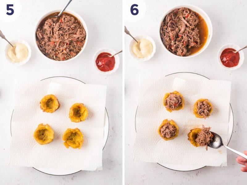 Preoceso para preparar Tostones Rellenos Imagen 2