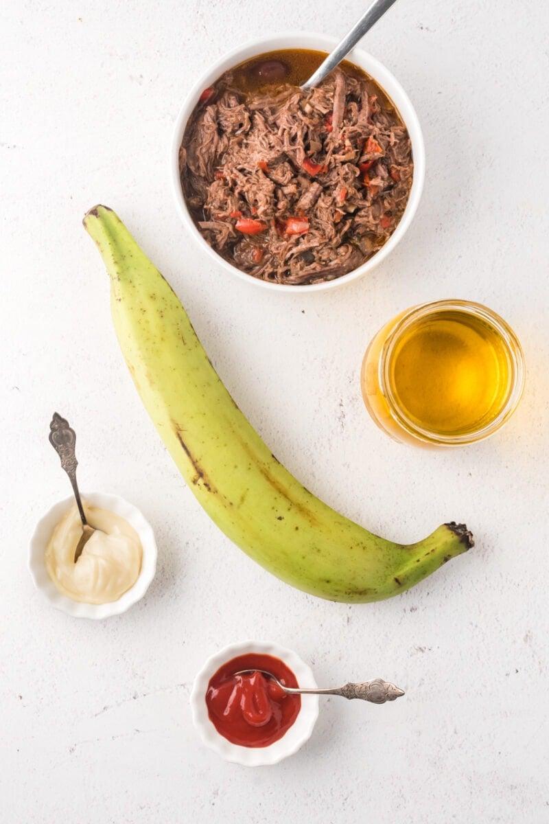 Ingredientes para Tostones Rellenos