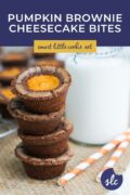 stocked brownie bites with a glass of milk pinterest 1
