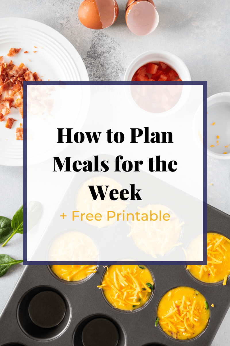 How to meal plan graphic by Smart Little Cookie