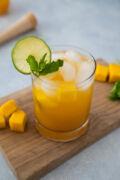 Mango Mojito in a clear glass