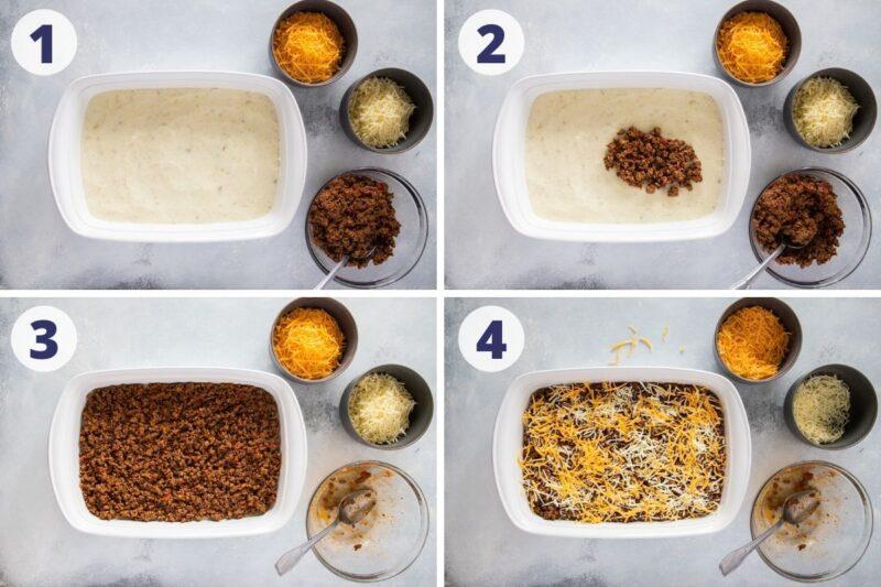 pastelon de papa preparation process