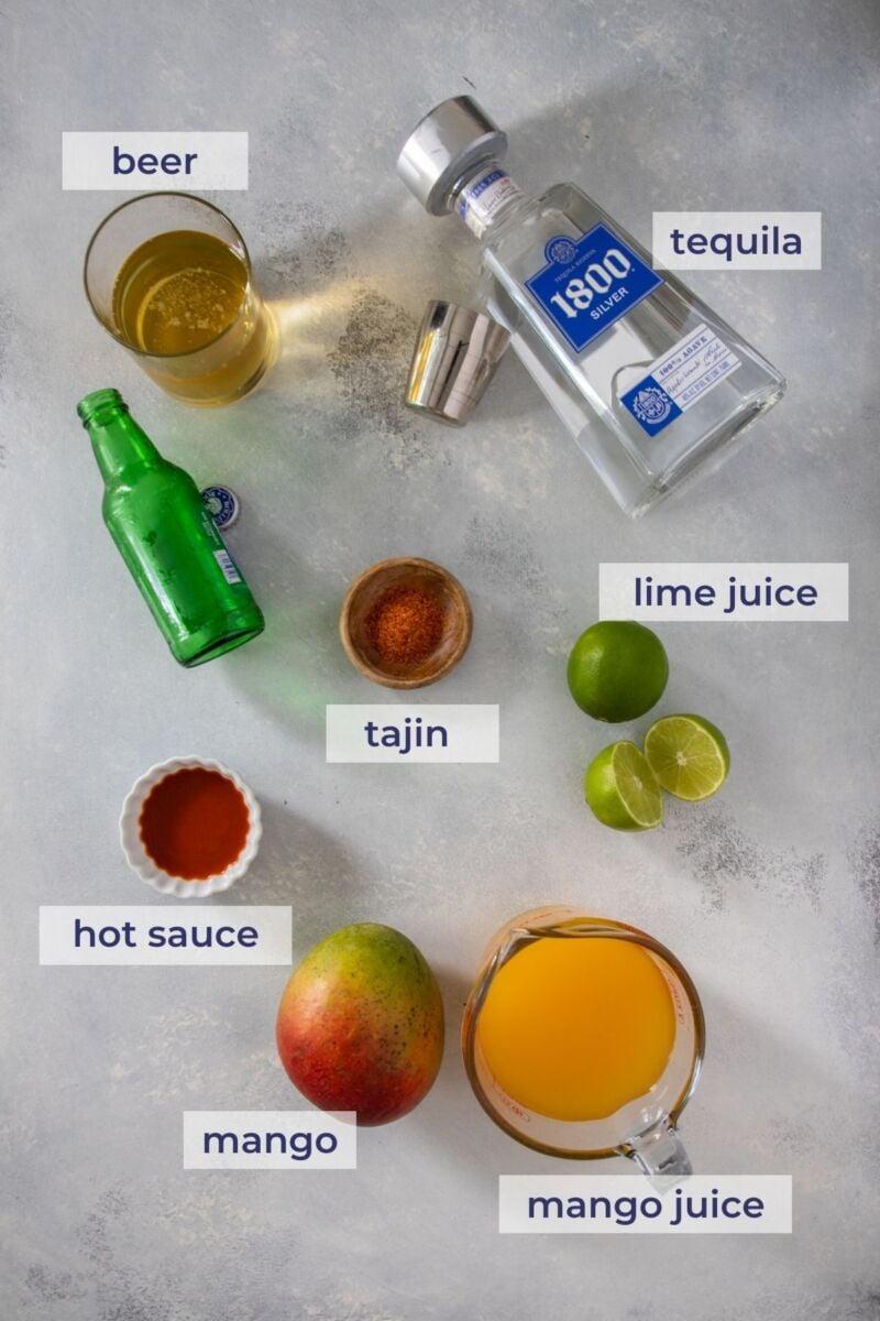 Spicy Mango Michelada Ingredients