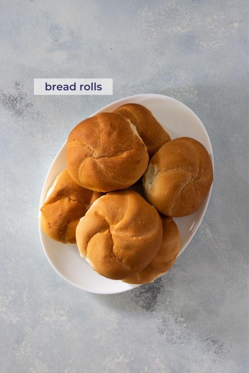 Bread rolls on a plate